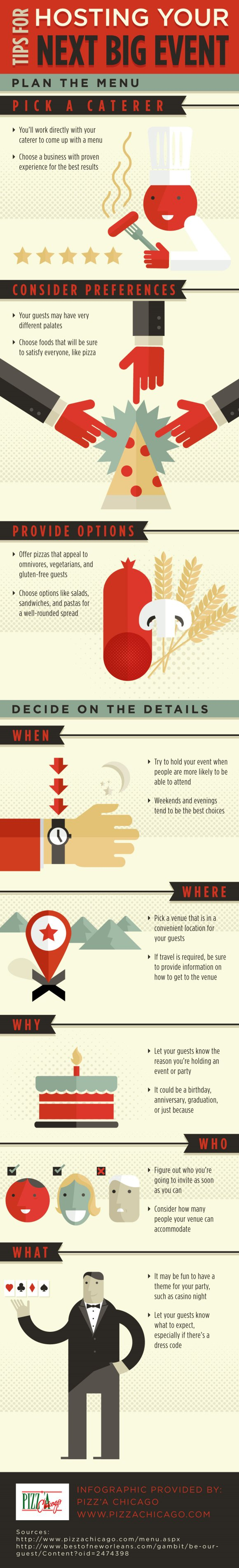 Tips For Hosting Your Next Big Event Infographic Palo Alto